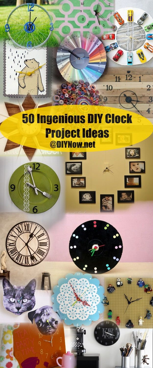 50 Ingenious DIY Clock Project Ideas