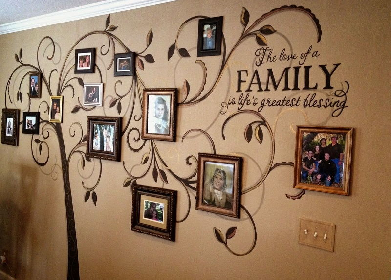 35 family tree wall art ideas page 36 for Family tree picture wall ideas