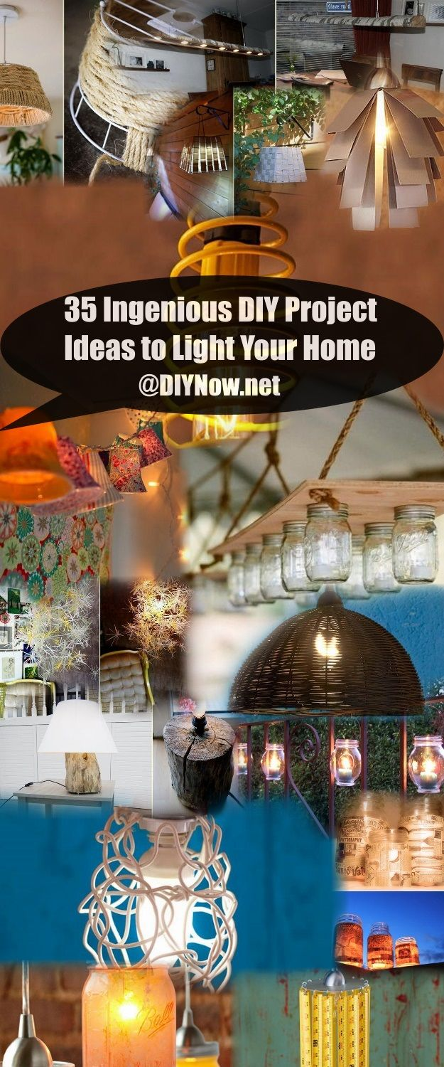 35 Ingenious DIY Project Ideas to Light Your Home