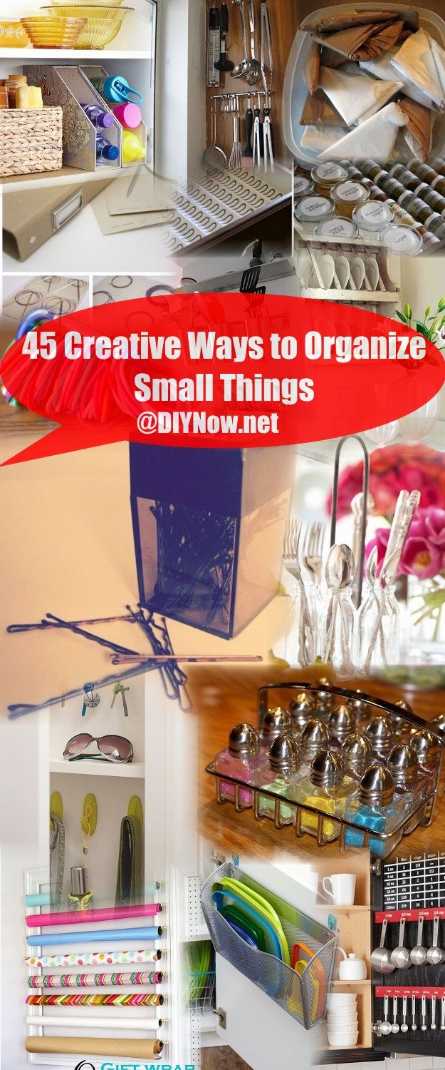 45 Creative Ways to Organize Small Things