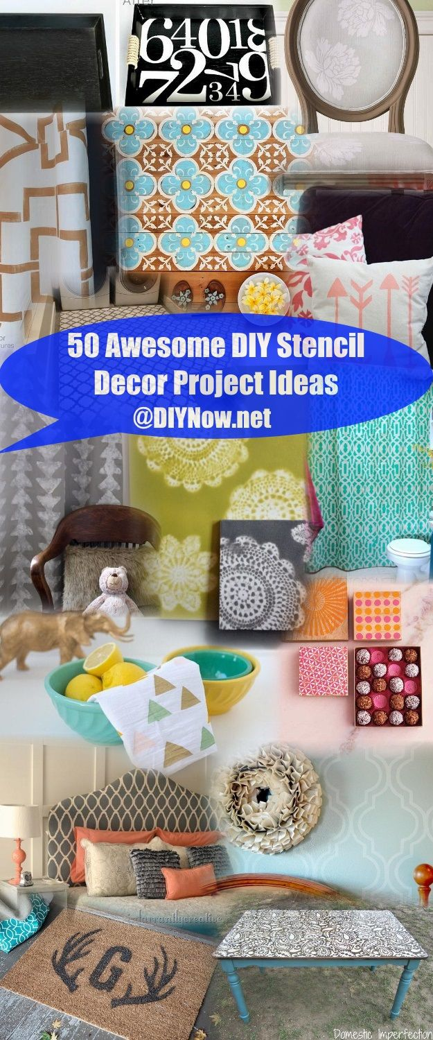 50 Awesome DIY Stencil Decor Project Ideas