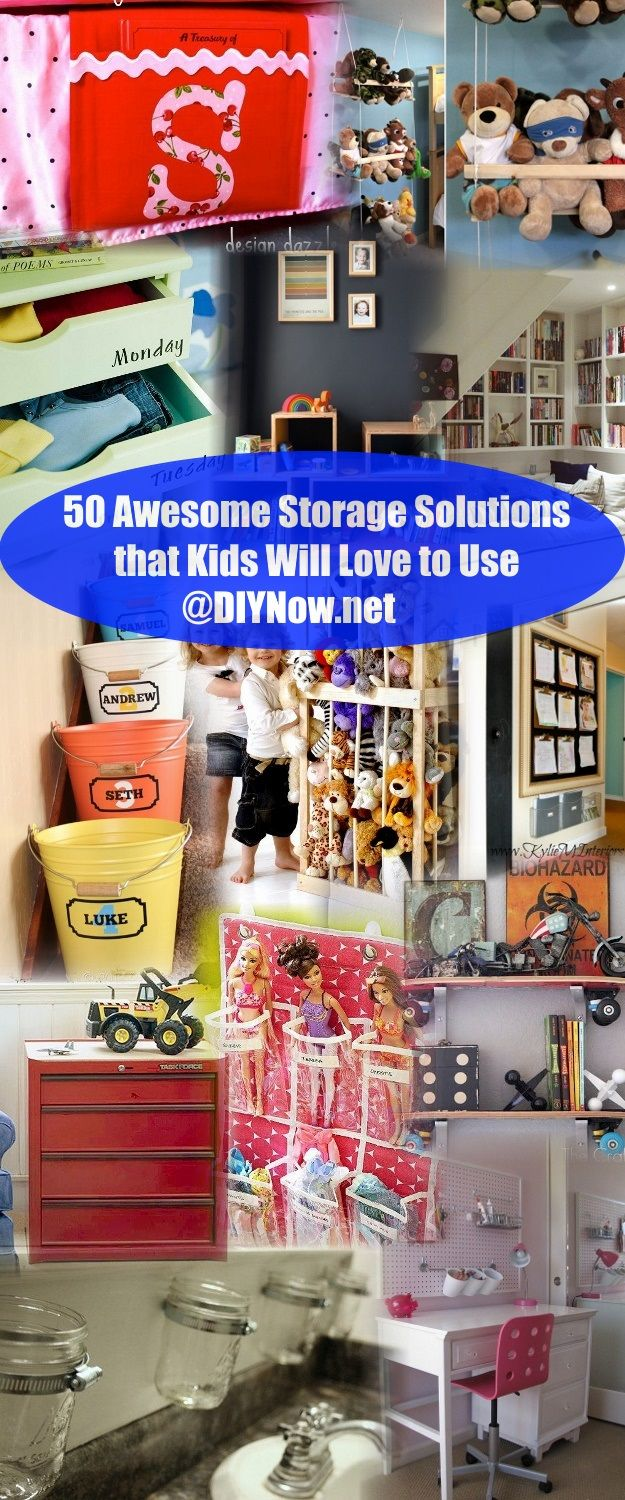 50 Awesome Storage Solutions that Kids Will Love to Use