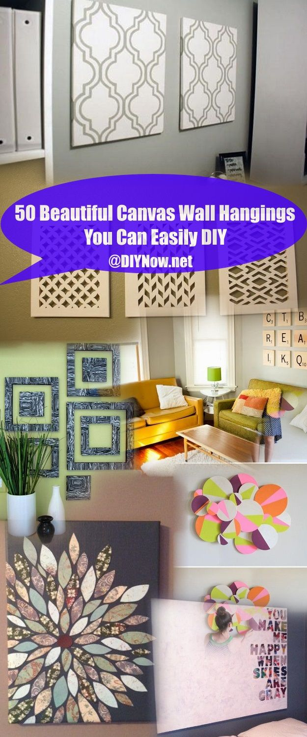 50 Beautiful Canvas Wall Hangings You Can Easily DIY