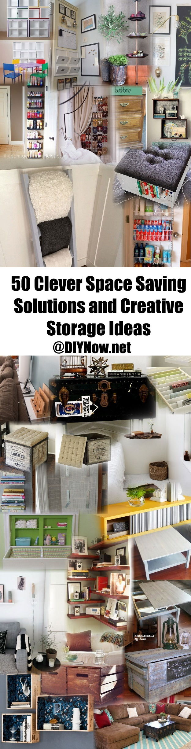 50 Clever Space Saving Solutions and Creative Storage Ideas