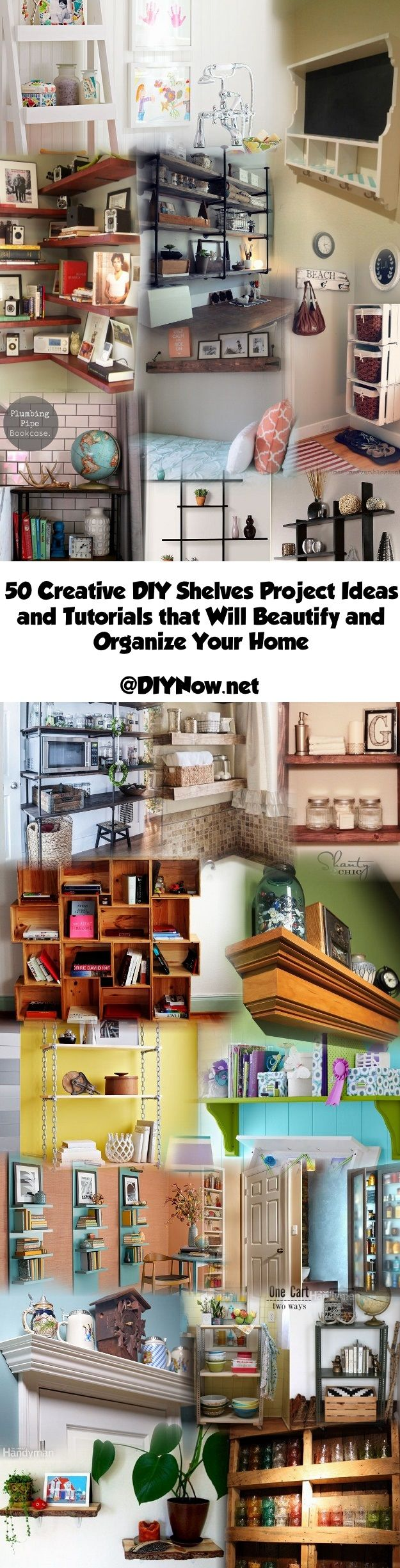 50 Creative DIY Shelves Project Ideas and Tutorials that Will Beautify and Organize Your Home