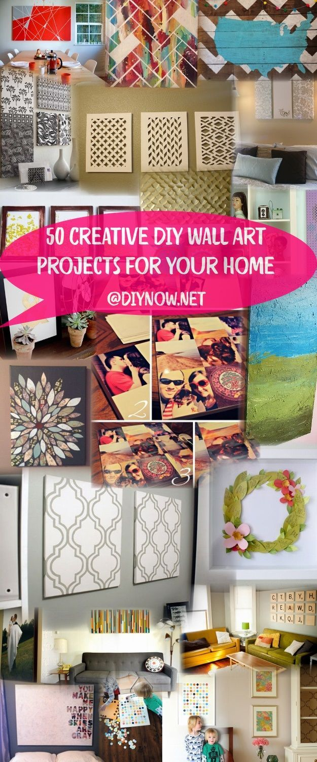 50 Creative DIY Wall Art Projects for Your Home