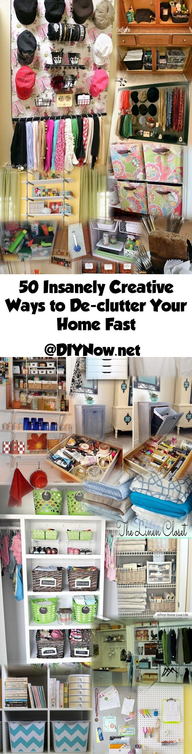 50 Insanely Creative Ways to De-clutter Your Home Fast