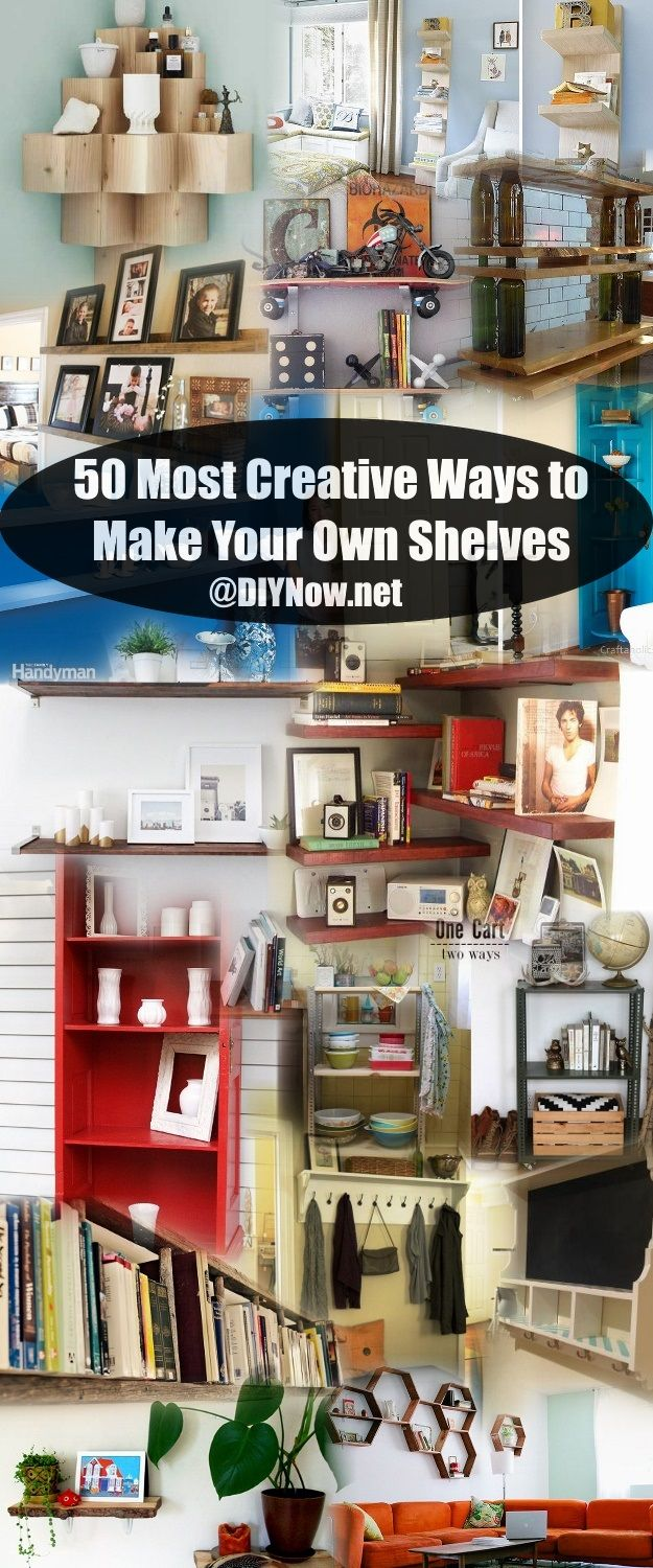 50 most creative ways to make your own shelves. Black Bedroom Furniture Sets. Home Design Ideas