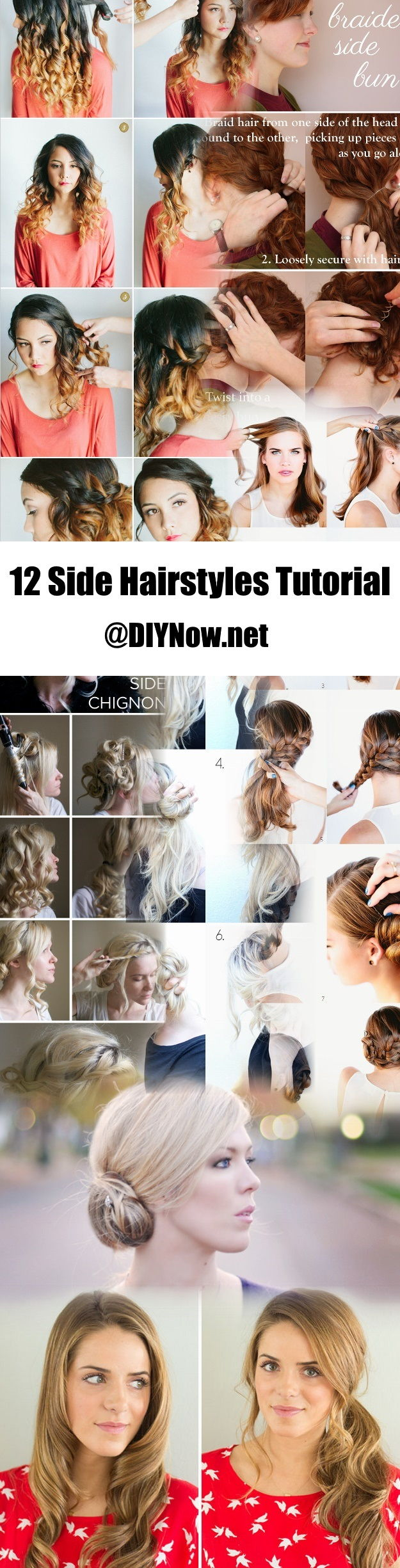 12 Side Hairstyles Tutorial