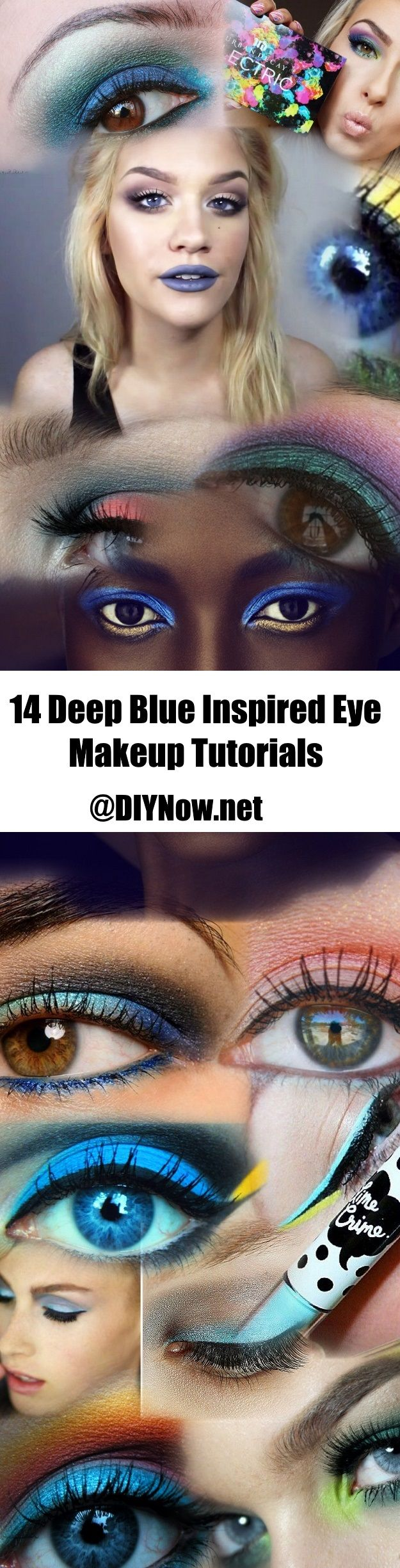 14 Deep Blue Inspired Eye Makeup Tutorials
