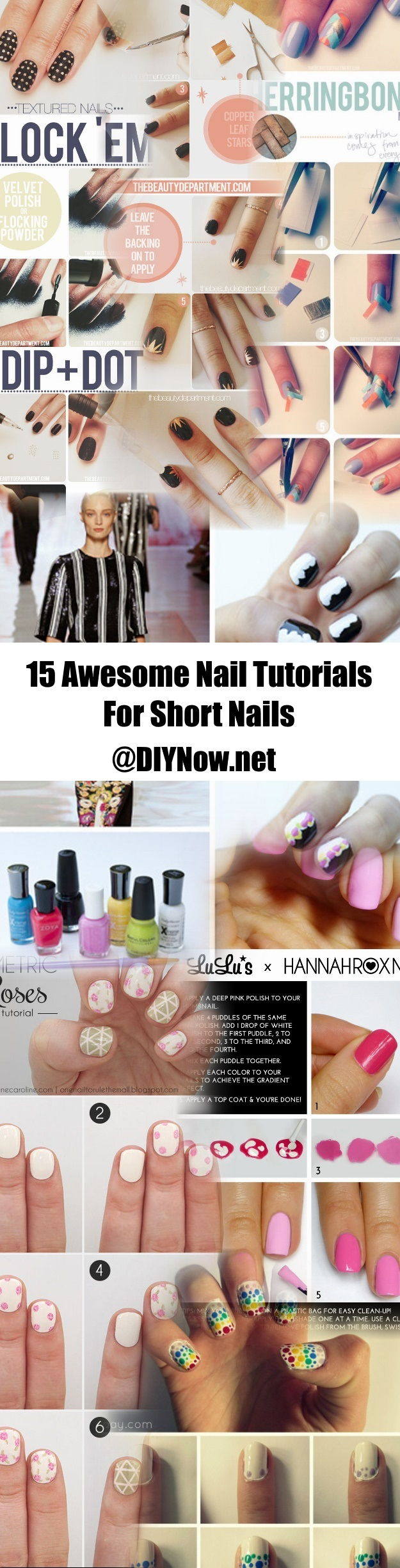15 Awesome Nail Tutorials For Short Nails