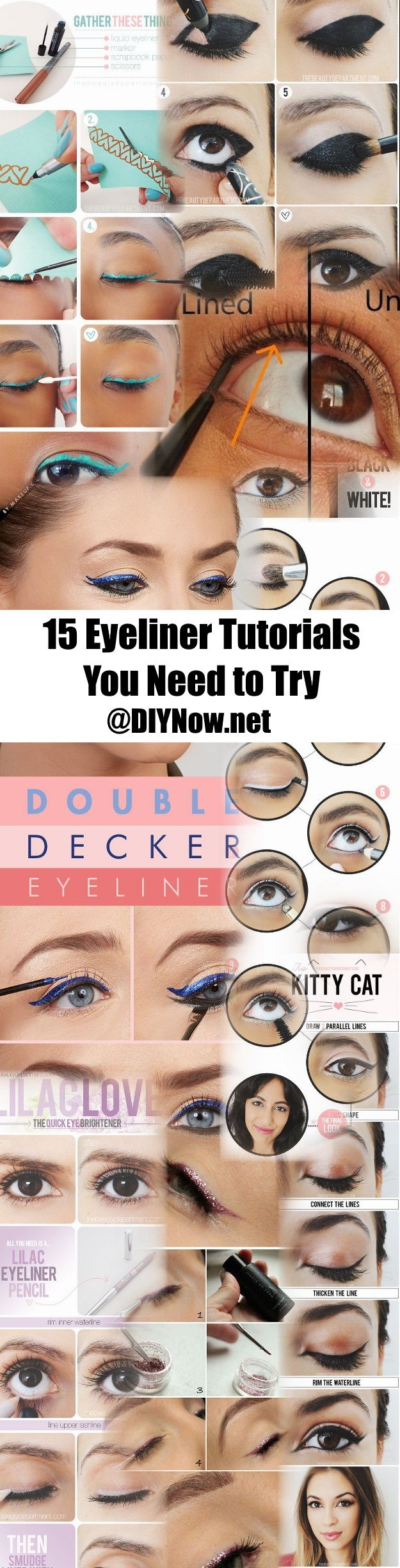 15 Eyeliner Tutorials You Need to Try