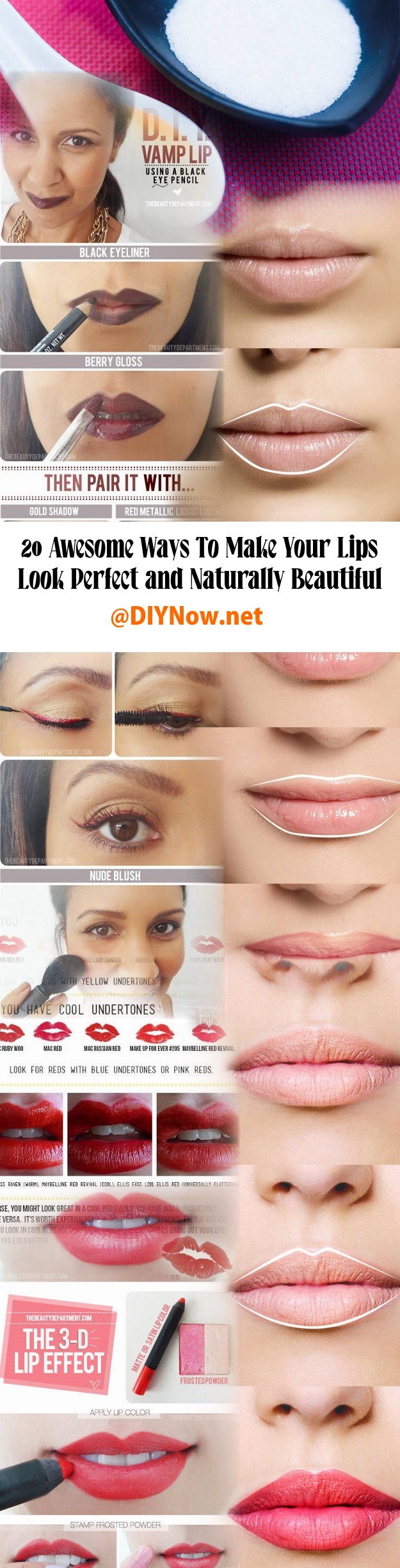 20 Awesome Ways To Make Your Lips Look Perfect and Naturally Beautiful