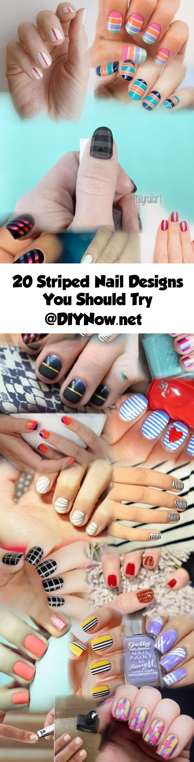 20 Striped Nail Designs You Should Try