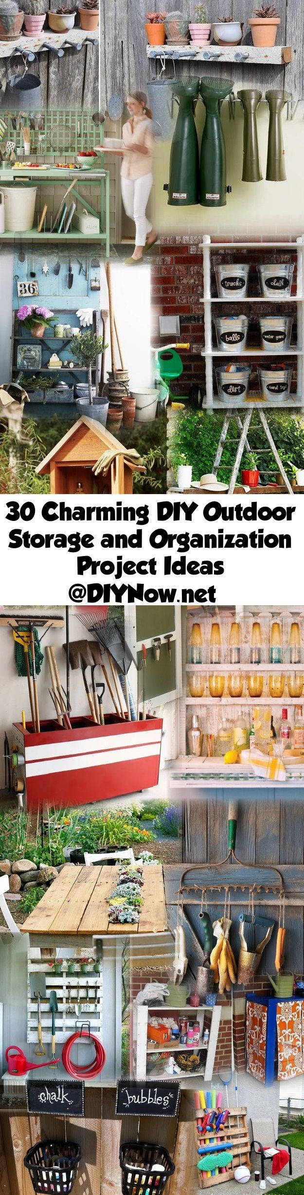 30 Charming DIY Outdoor Storage and Organization Project Ideas