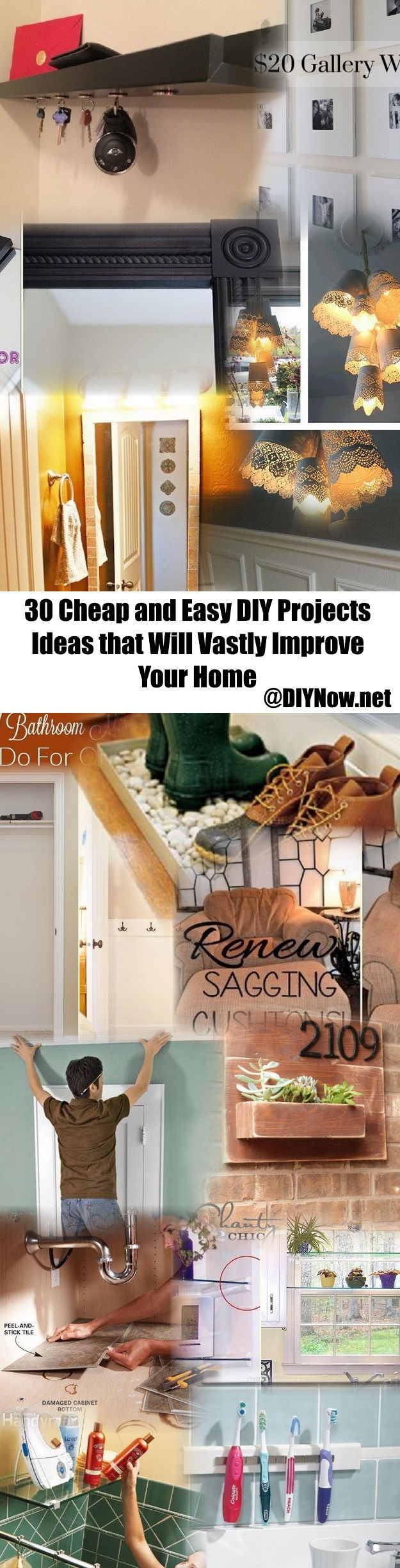 30 cheap and easy diy projects ideas that will vastly for Easy home improvement projects