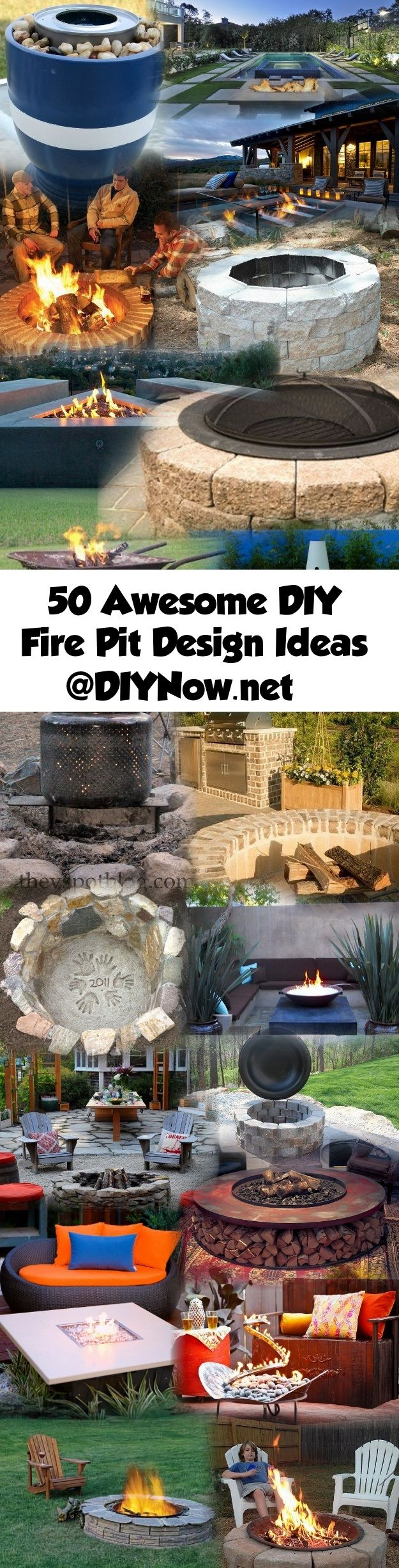 50 Awesome DIY Fire Pit Design Ideas