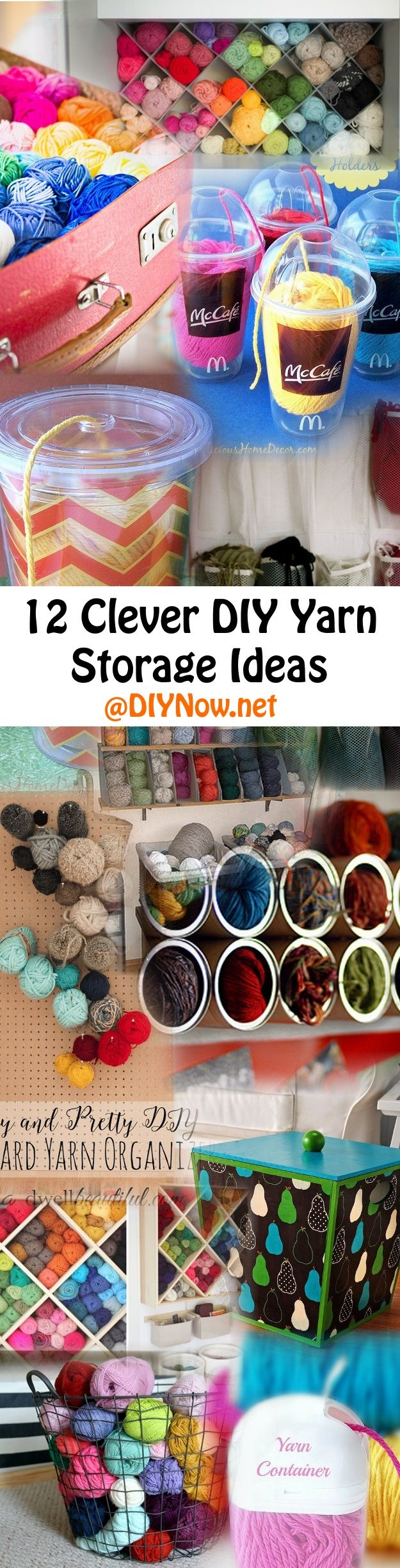 Ordinaire 12 Clever DIY Yarn Storage Ideas
