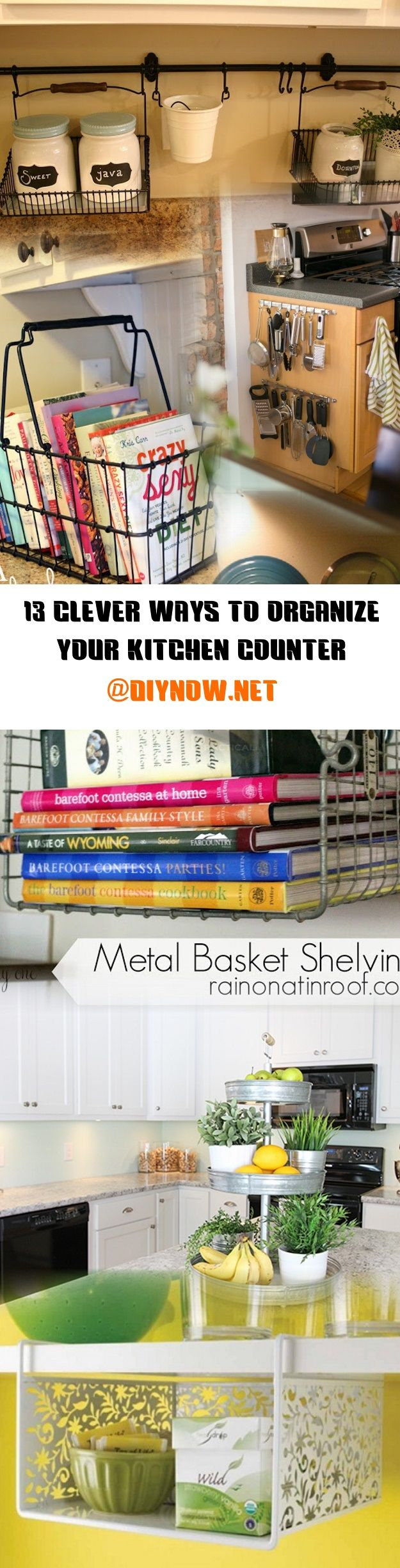 13 Clever Ways to Organize Your Kitchen Counter