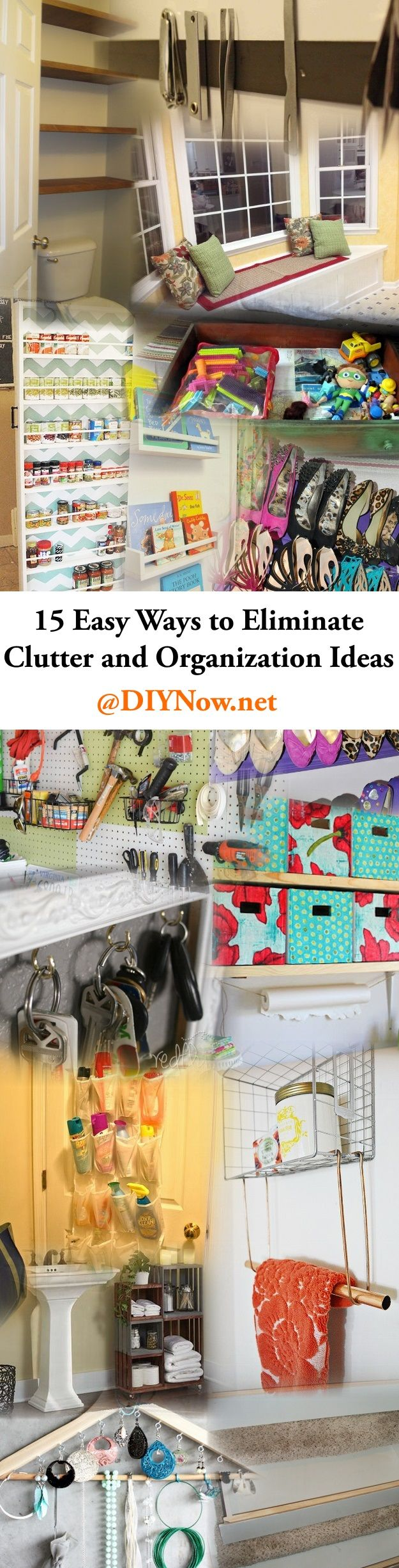 15 Easy Ways to Eliminate Clutter and Organization Ideas