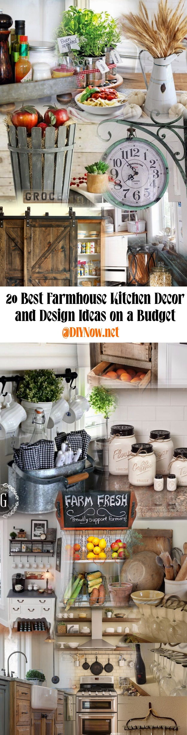 20 Best Farmhouse Kitchen Decor and Design Ideas on a Budget