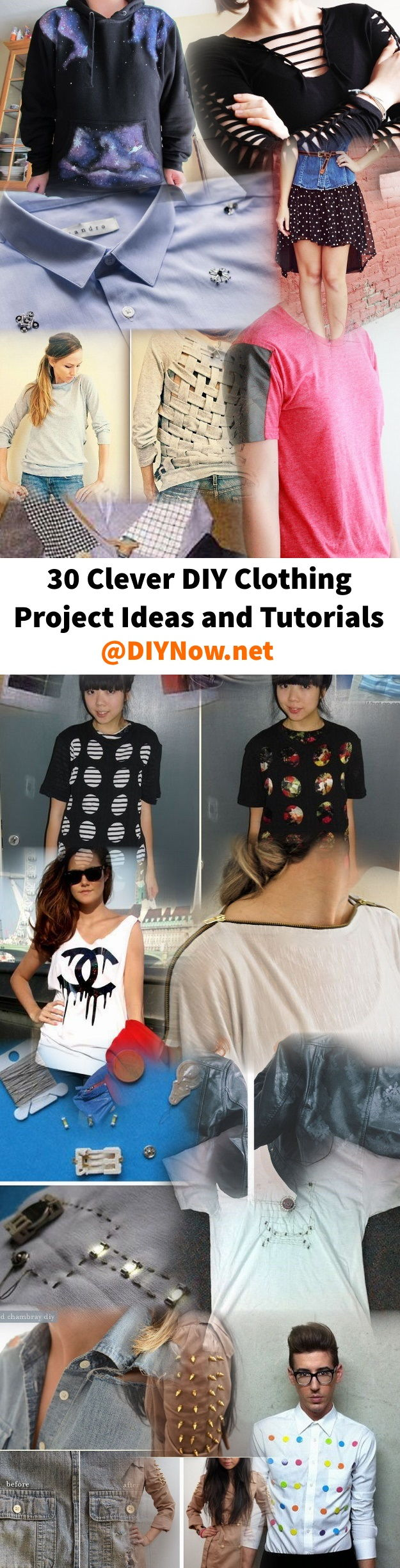 30 Clever DIY Clothing Project Ideas and Tutorials