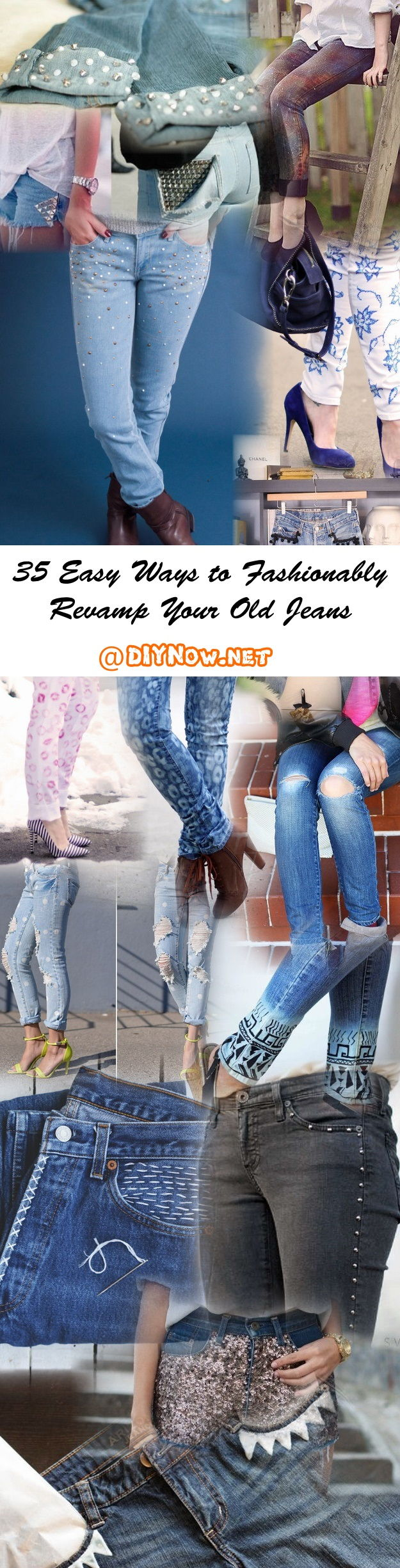 35 Easy Ways to Fashionably Revamp Your Old Jeans