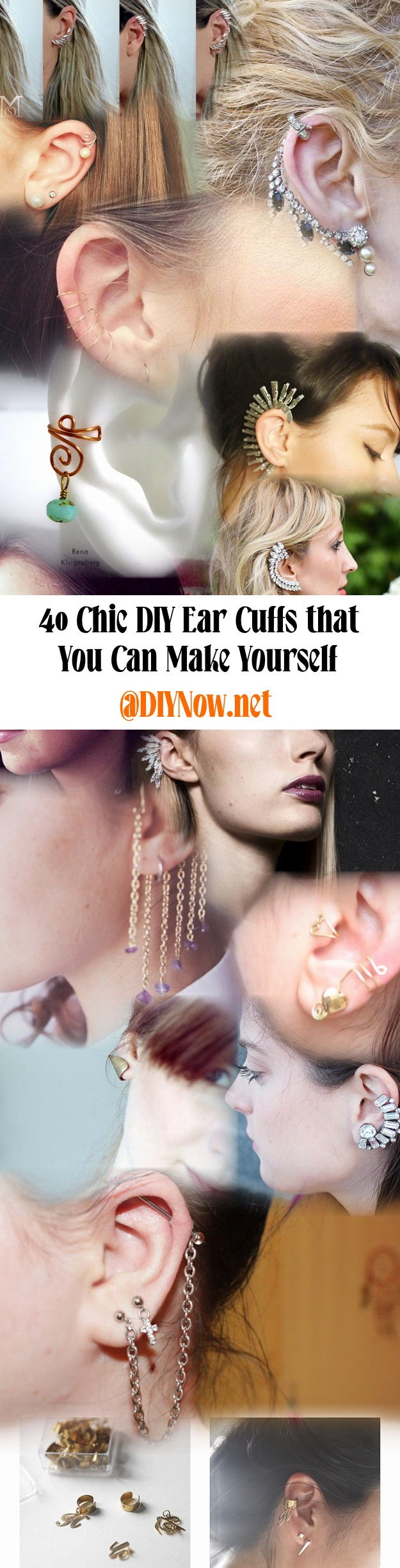 40 Chic DIY Ear Cuffs that You Can Make Yourself