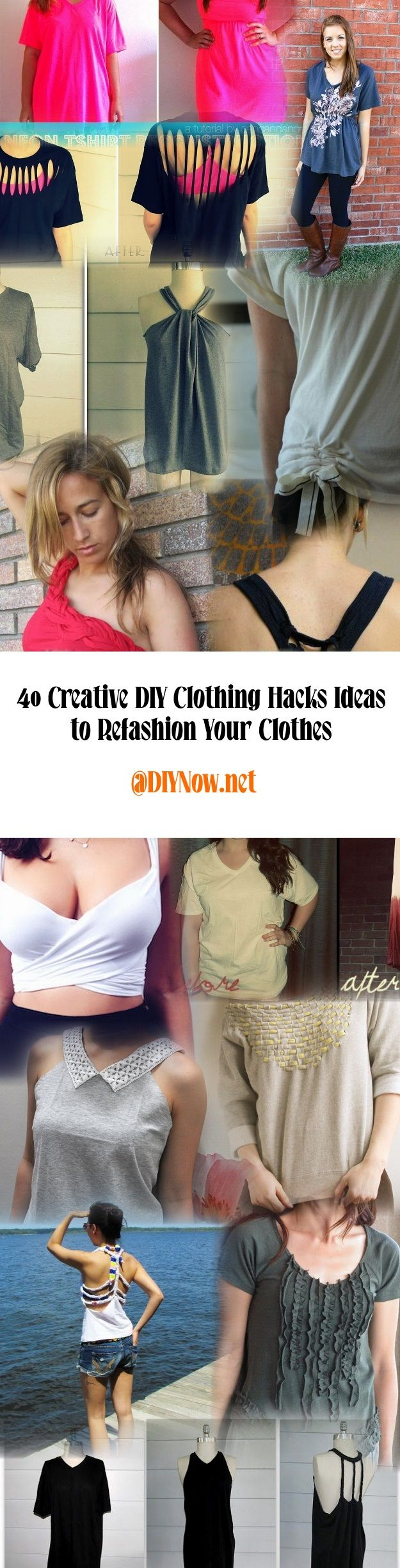 40 Creative DIY Clothing Hacks Ideas to Refashion Your Clothes