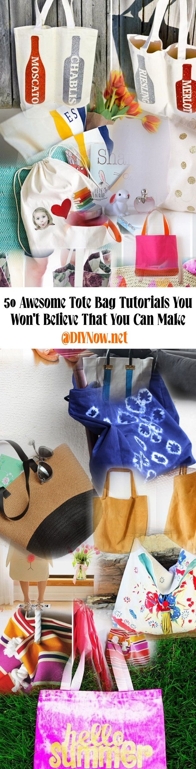 50 Awesome Tote Bag Tutorials You Wont Believe That You Can Make