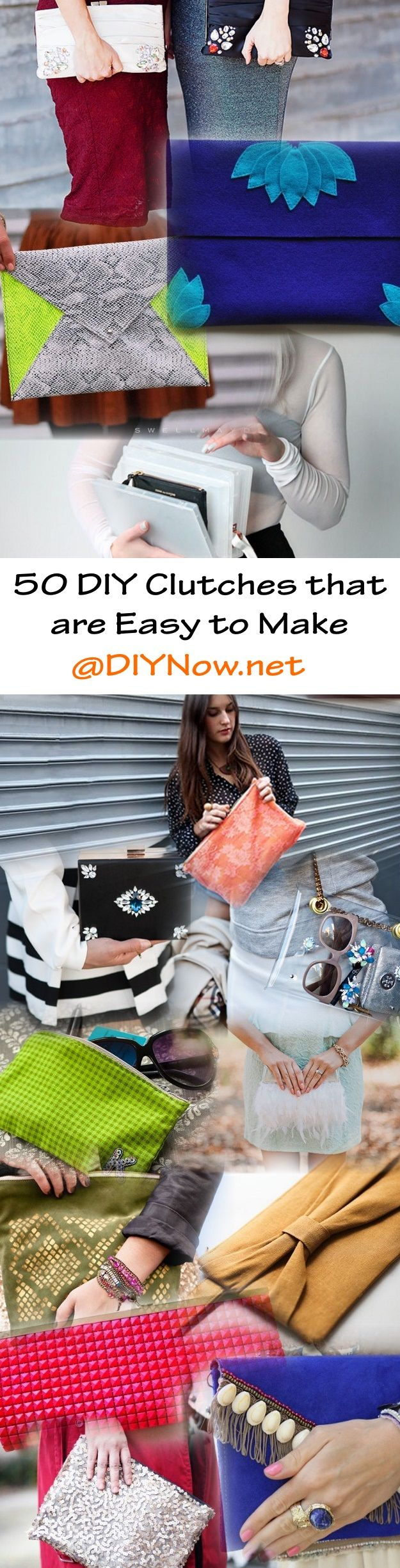 50 DIY Clutches that are Easy to Make