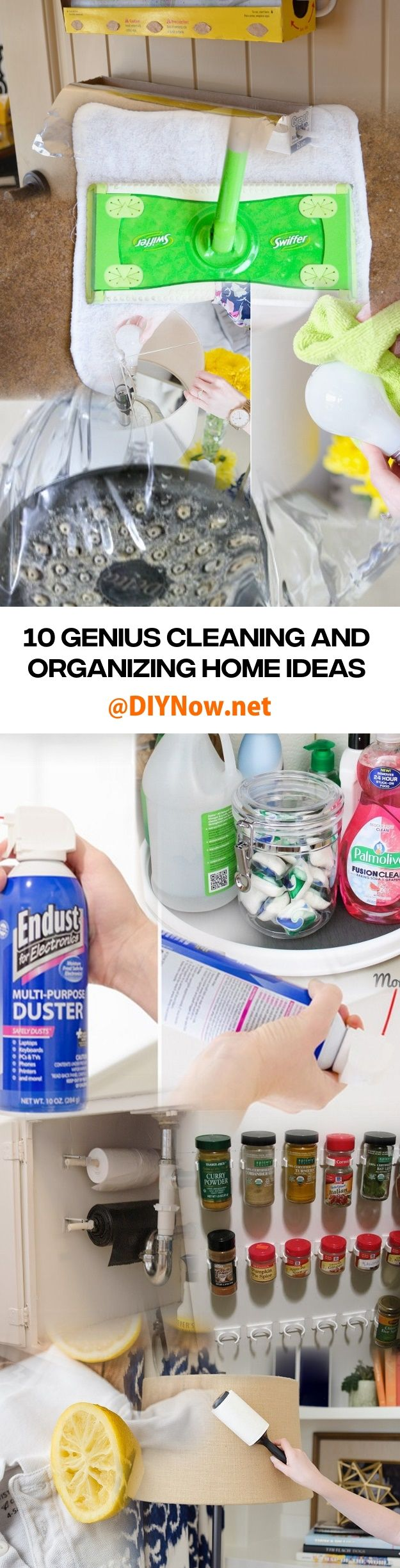 10 Genius Cleaning and Organizing Home Hacks Ideas
