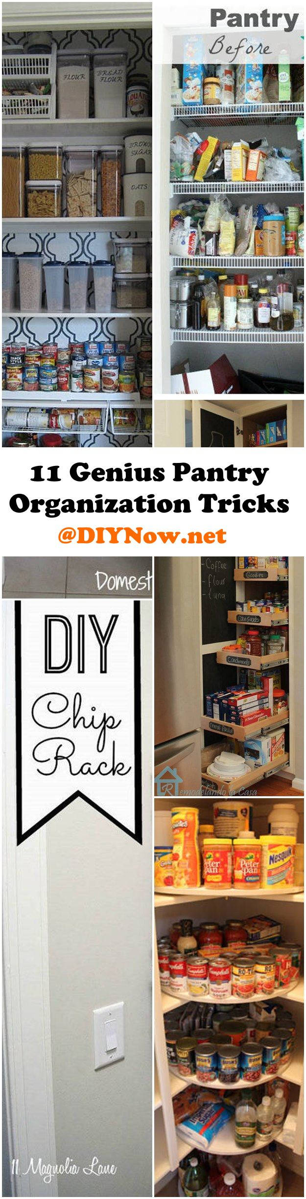 11 Genius Pantry Organization Tricks