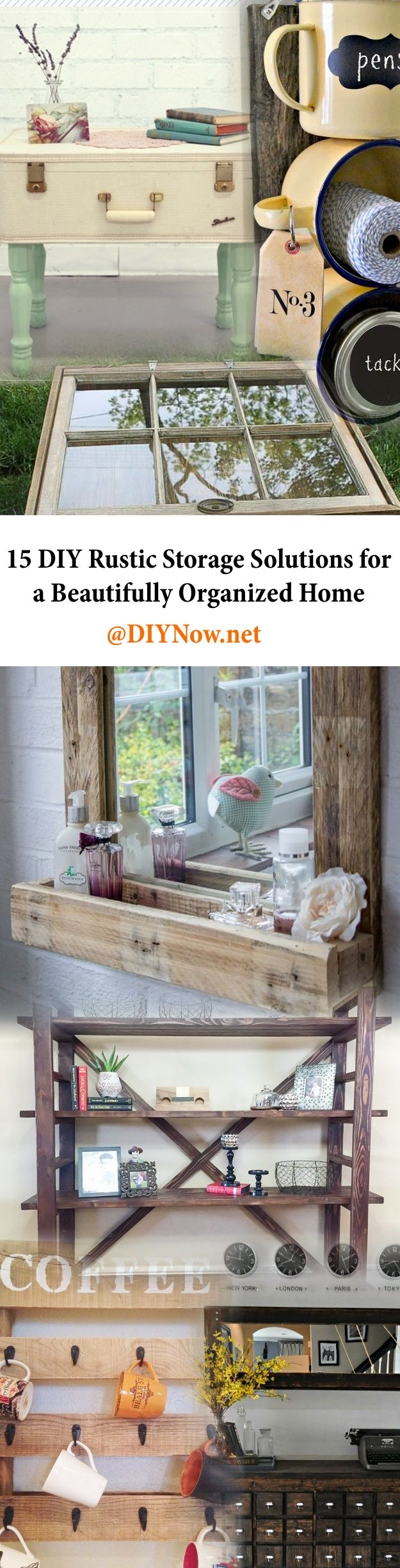 12 DIY Rustic Storage Solutions for a Beautifully Organized Home