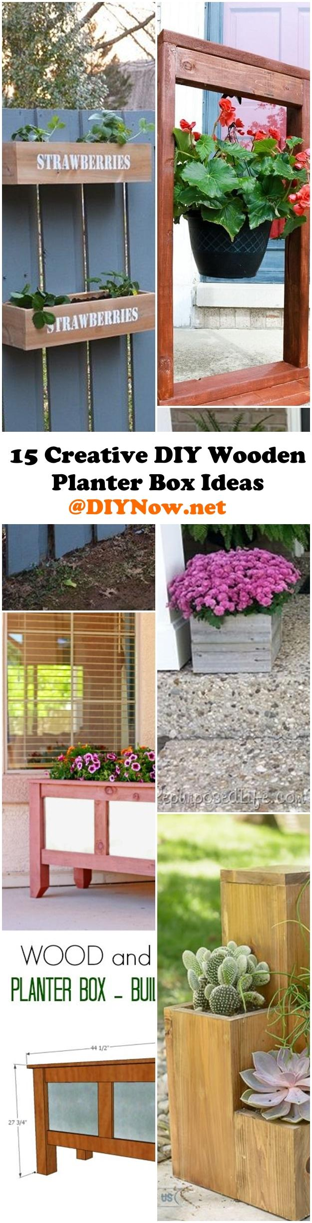 15 Creative DIY Wooden Planter Box Ideas