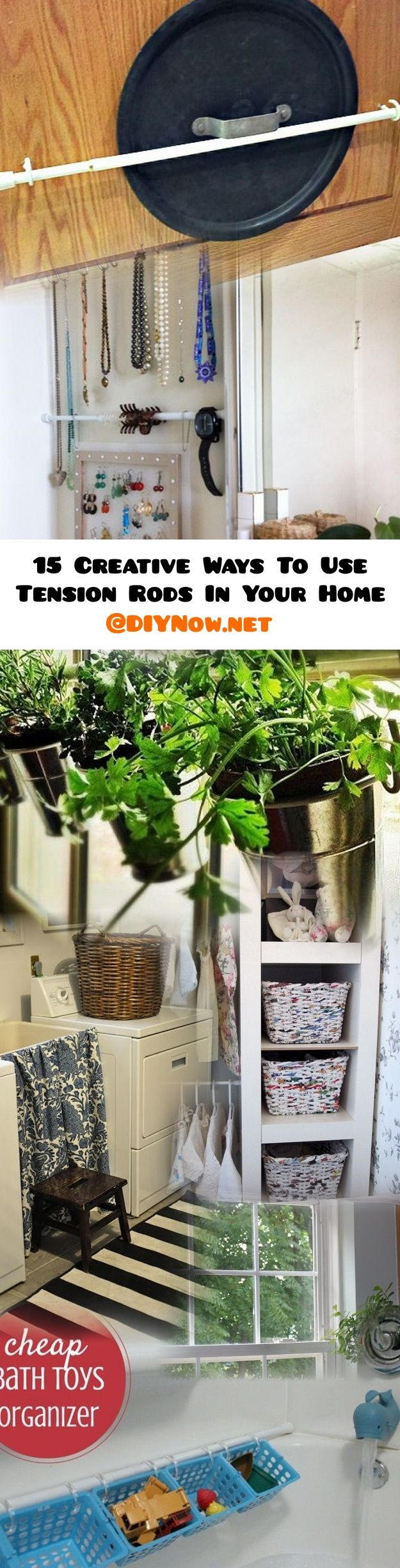 15 Creative Ways To Use Tension Rods In Your Home