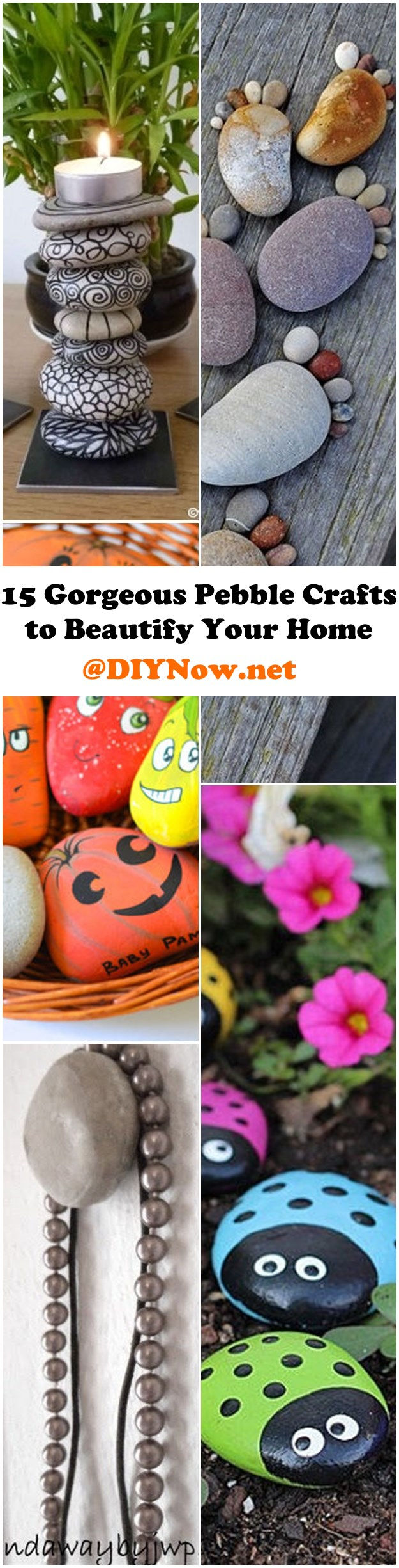 15 Gorgeous Pebble Crafts to Beautify Your Home