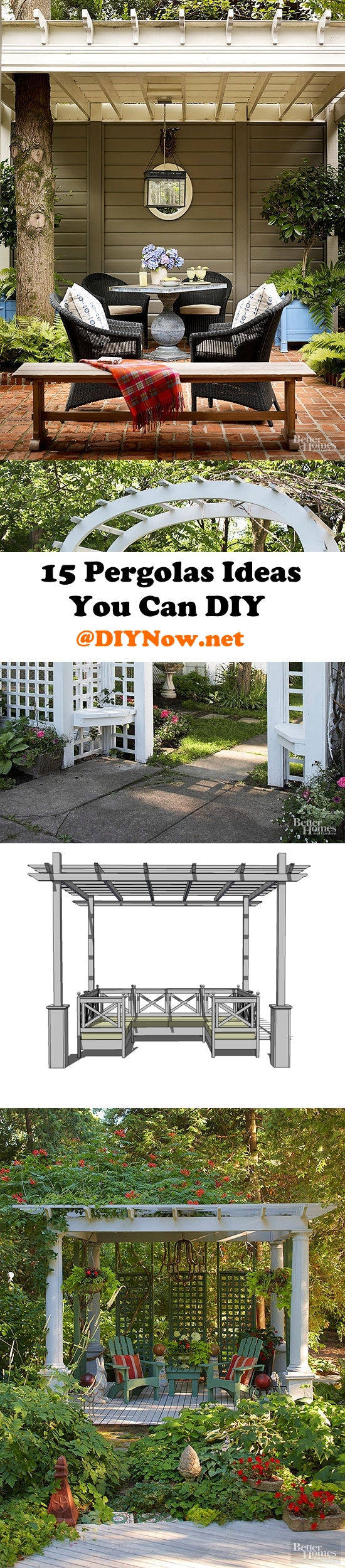 15 Pergolas Ideas You Can DIY