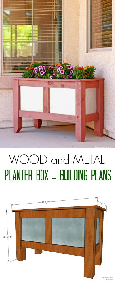 Wood and Metal Planter Box Building Plans